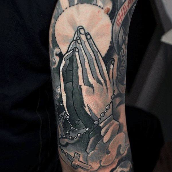 Top 103 Rosary Tattoo Ideas 2020 Inspiration Guide Hand Tattoos Tattoos For Guys Praying Hands Tattoo