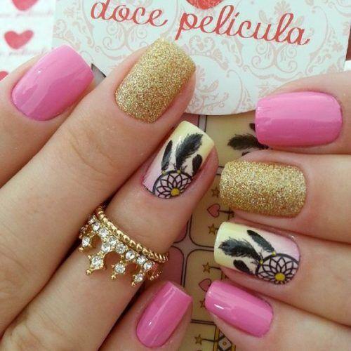 Uñas Decoradas Con Atrapasueños Uñas Pinterest Nail Art Nail