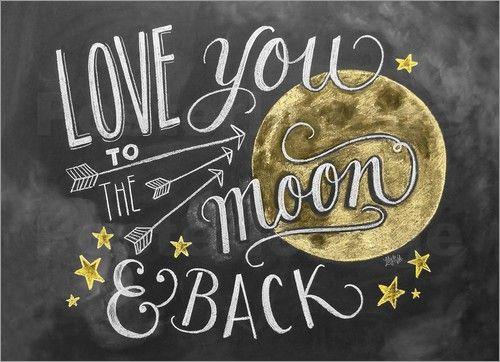 Lily Val Ich Liebe Dich Bis Zum Mond Und Zuruck Englisch Auf Kreidetafeln Schreiben Was Macht Glucklich Kreidekunst
