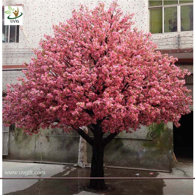 Uvg 4m Indoor Home Artificial Cherry Blossom Landscape Trees For Birthday Party Decoration Arboles