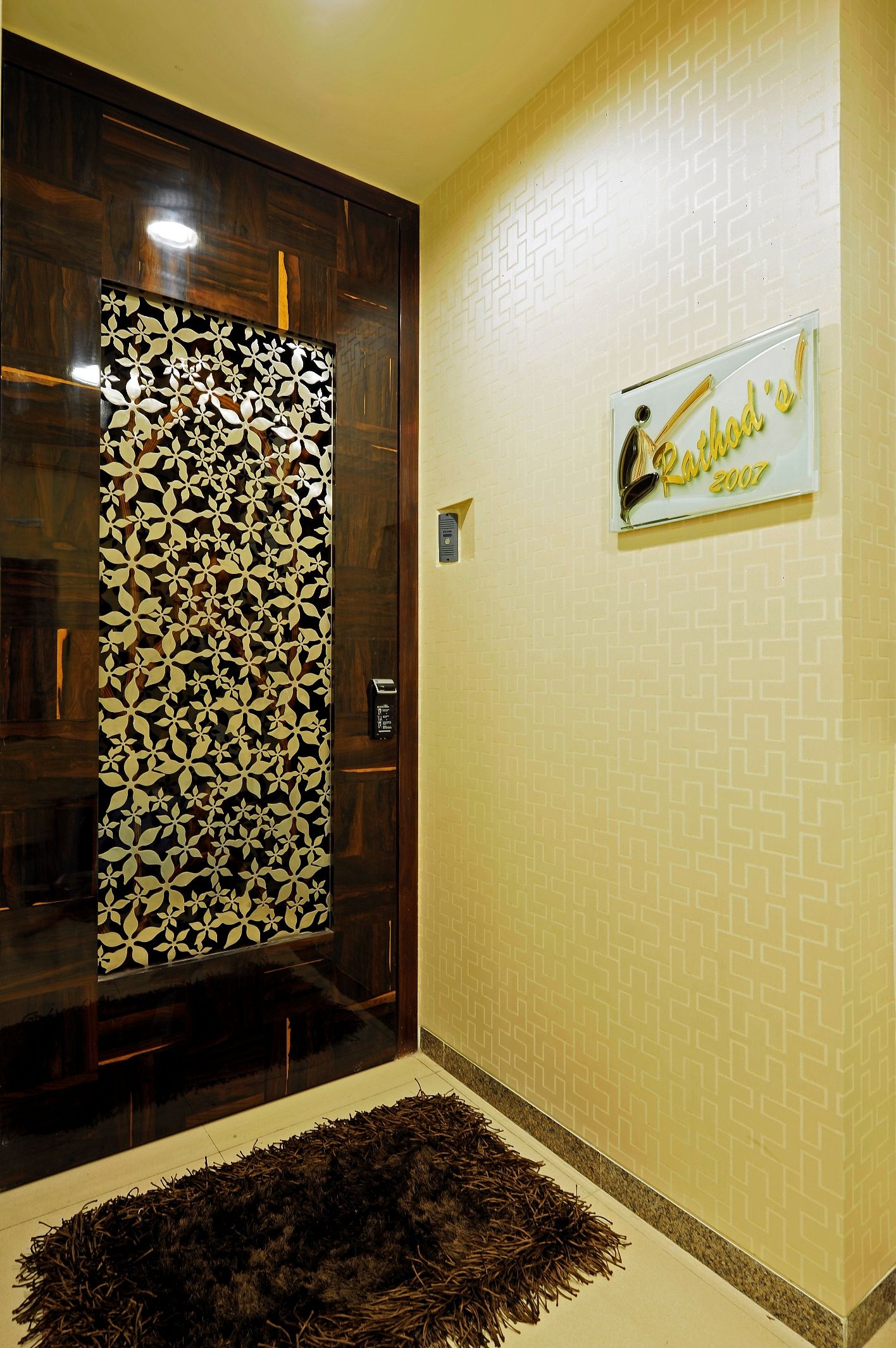 custom made ms laser cut door grill for a residential project in mumbai homedecor stahldecor. Black Bedroom Furniture Sets. Home Design Ideas