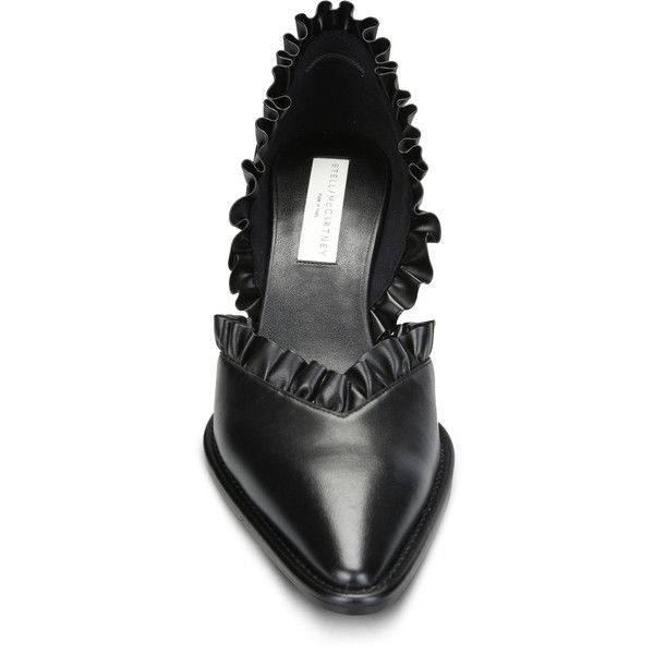 58481201d00b Stella Mccartney Black Ruffle Shoes (5.991.890 IDR) ❤ liked on Polyvore  featuring shoes