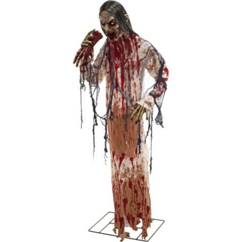 Hungry Zombie Prop 5ft - Party City Humanoids - Zombies Pinterest - halloween decorations at walmart