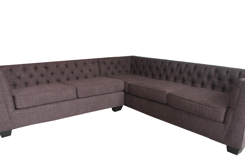 Custom Tufted Sectional By Decenni Custom Furniture. Retail $2400