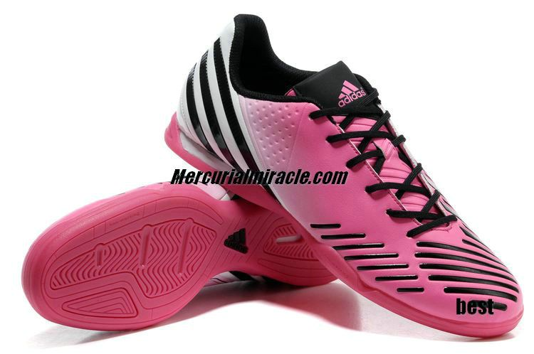 d53b7ce1f929 Adidas Predator LZ IC Clear Olympic Pink White Black Beckham Soccer Shoes   Pink  Womens  Sneakers