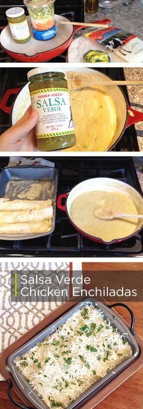 Salsa Verde Chicken Enchiladas - BriGeeski