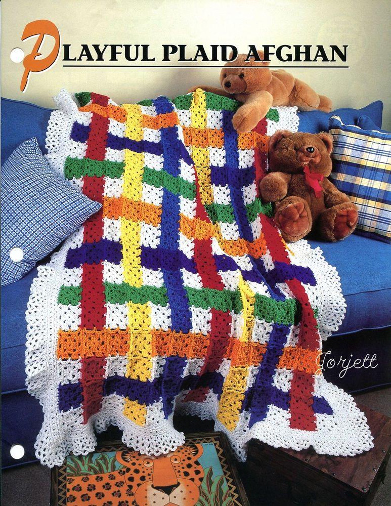 Playful Plaid Afghan Annies Crochet Pattern Anniesattic Afghan