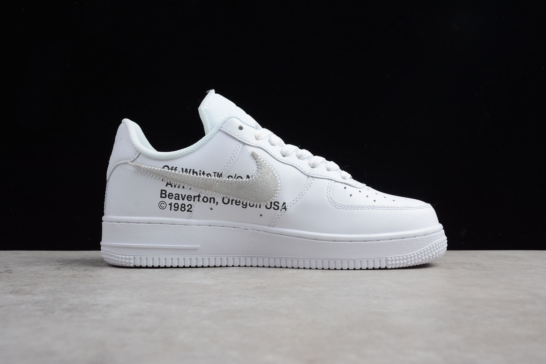 Men's and Women's OFF WHITE x Nike Air Force 1 Low White