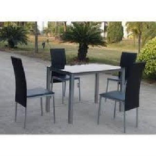 Liquiacion mesa de cocina en cristal color a elegir + 4 sillas en ...