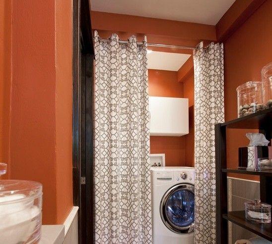 Bagno piccolo con lavatrice lavatrice in bagno nascosta da tende bagno piccolo bagno e - Telecamera nascosta camera da letto ...