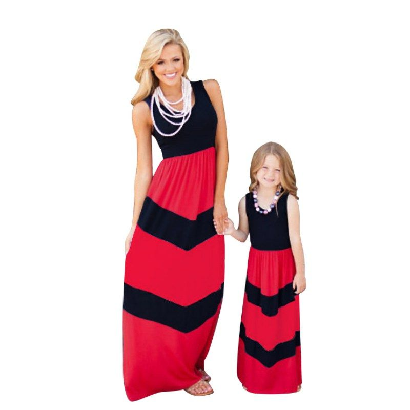 2017 family matching mother daughter dresses clothes