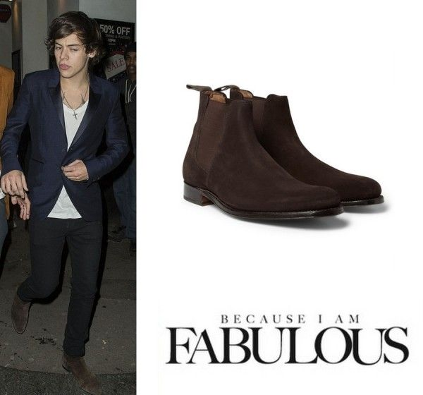 c1e95f1d424 Harry Styles Grenson Declan Suede Chelsea Boots   sharp dressed men ...