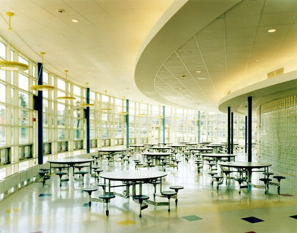 School design educational spaces traditional cafeteria for Proyecto cafeteria escolar