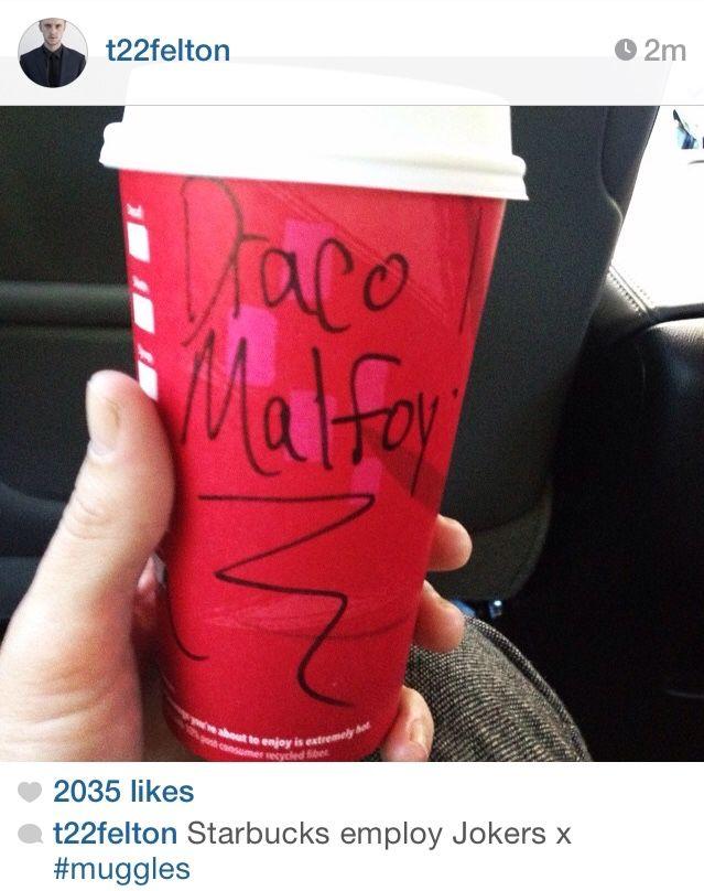 Tom Felton Starbuck Tweet XD