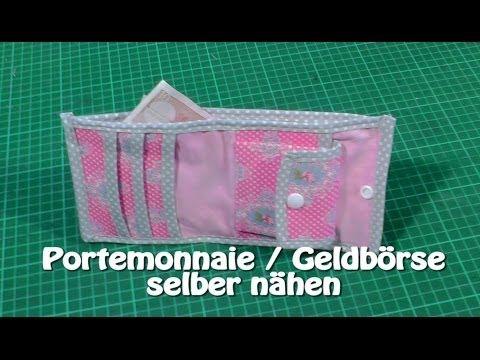 DIY | Portemonnaie / Geldbörse selber nähen I Nähen für Anfänger I ...