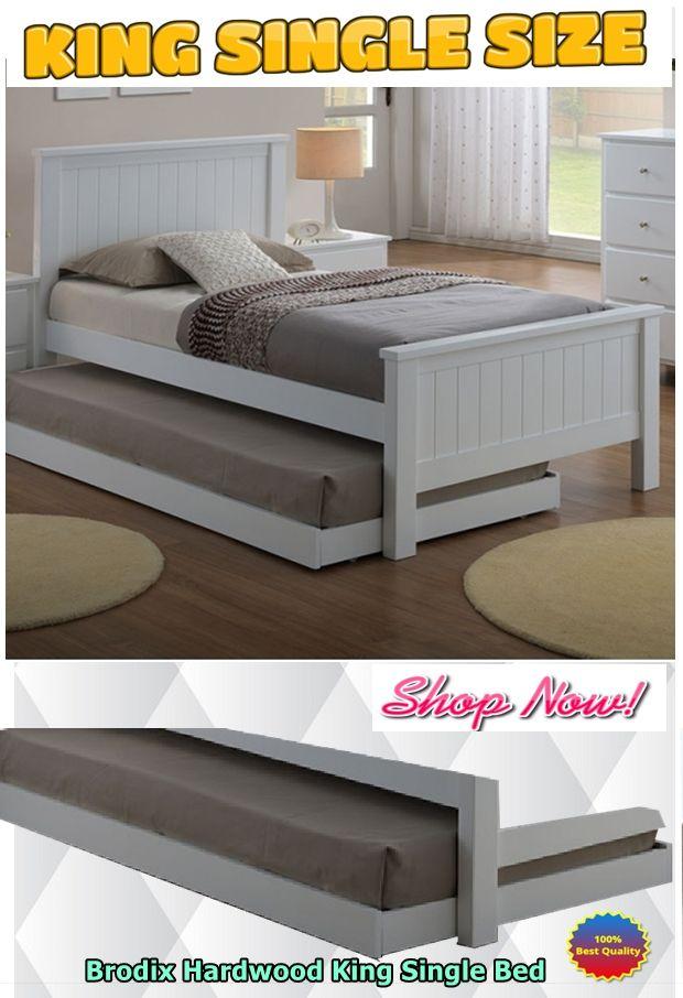 Brodix Hardwood King Single Bed Frame - White   Pinterest   King ...