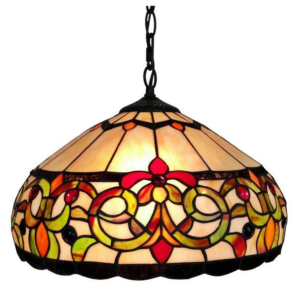 Amora Lighting Tiffany Style Floral Pendant Hanging L&  sc 1 st  Pinterest & Amora Lighting Tiffany Style Floral Pendant Hanging Lamp | Lamps and ...