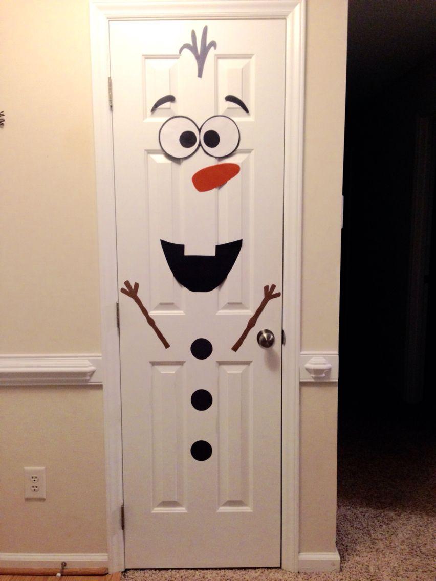 Christmas frozen olaf snowman door decorar for Adorno navidad puerta entrada