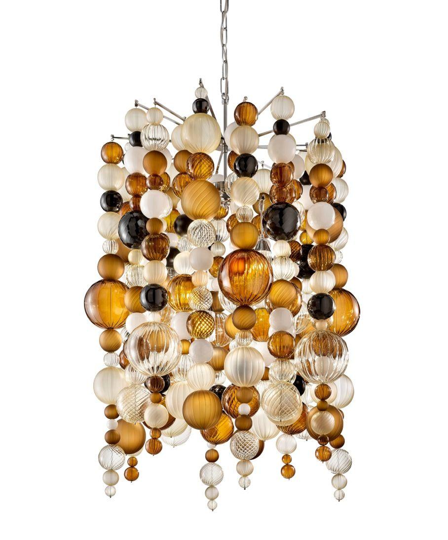 The bollicine chandelier from otium by thomas fuchs at the bollicine chandelier from otium by thomas fuchs at martinnashadac adac atlanta elegant sphere orange black aloadofball Image collections