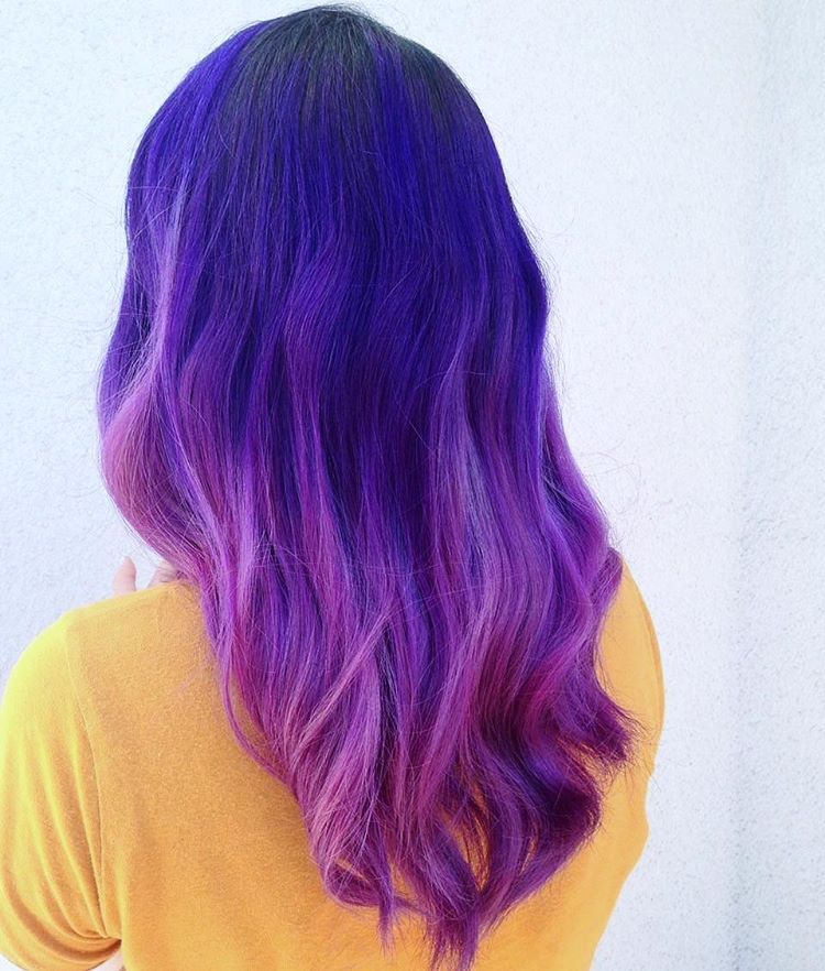 Awesome 45 Cool Purple Ombre Hair Ideas Trendy Contemporary Styling