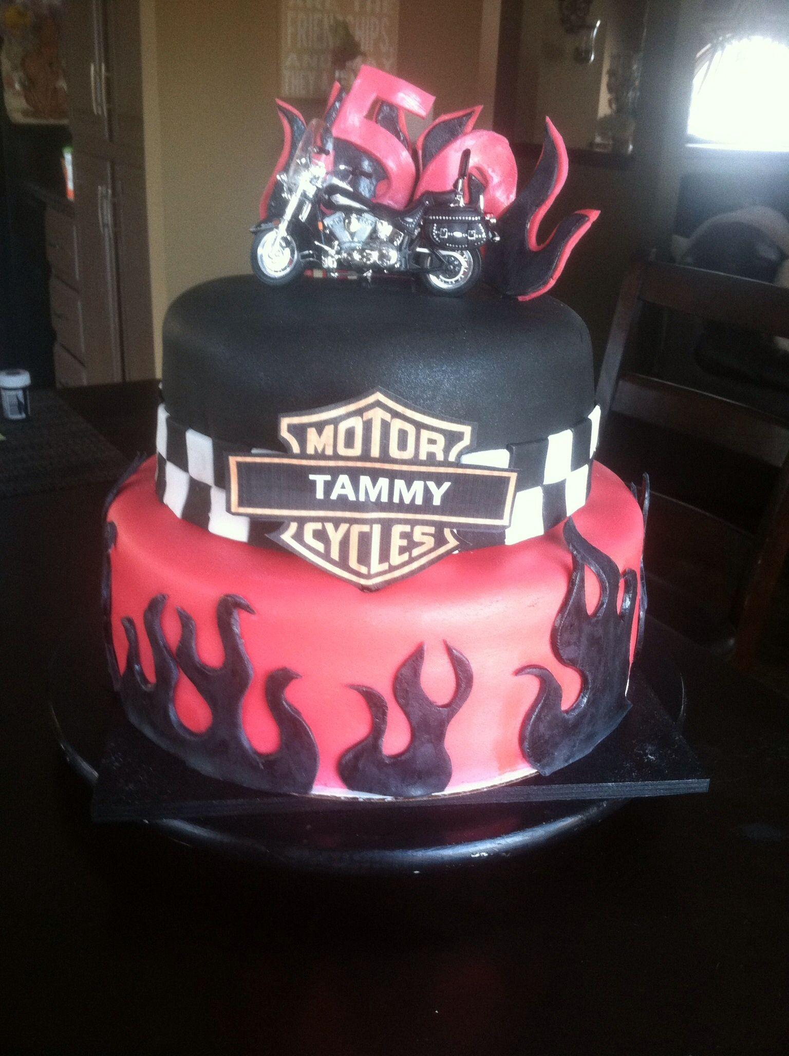 Harley Davidson birthday cake | My Cakes | Pinterest | Harley ...