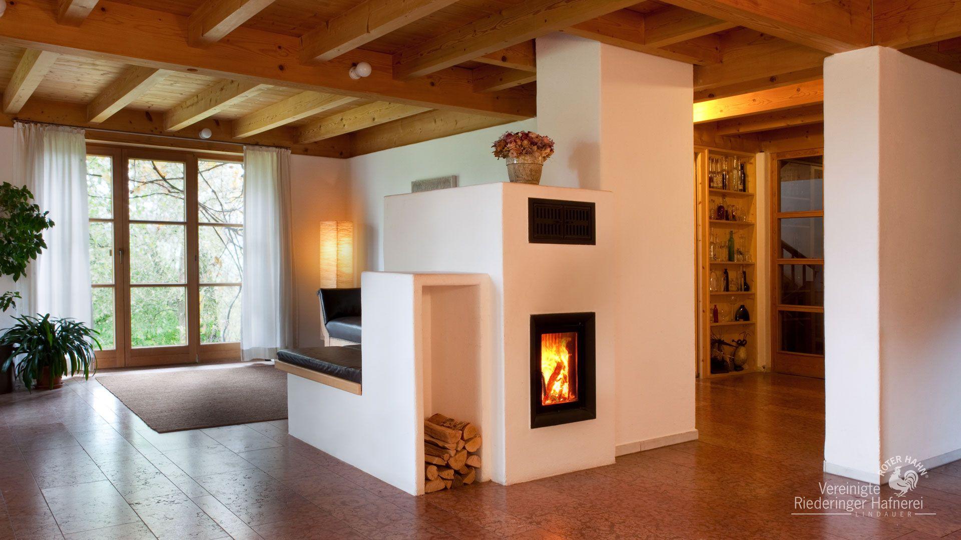 Wohnzimmer des modernen interieurs des hauses moderne kachelöfen  wasserführend  große scheiben ver