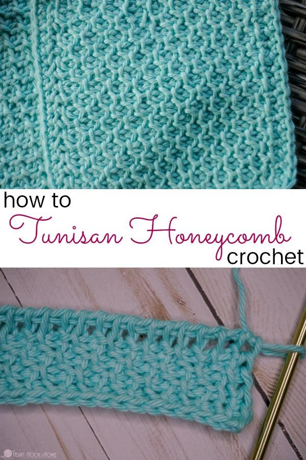 Tunisian Honeycomb Crochet Stitch Tutorial #tunisiancrochet