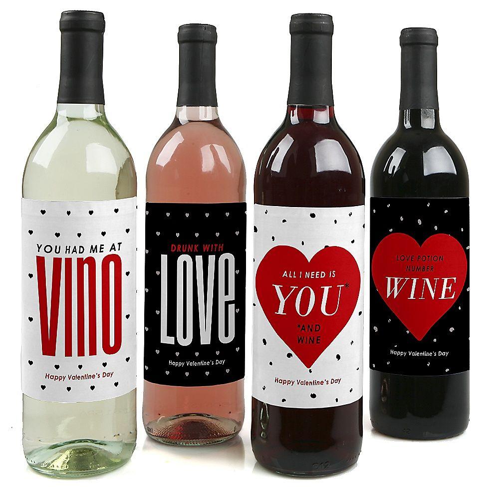 Valentine S Day Valentine S Day Wine Bottle Labels Wine Bottle Custom Wine Bottle Labels Funny Wine Bottle Labels