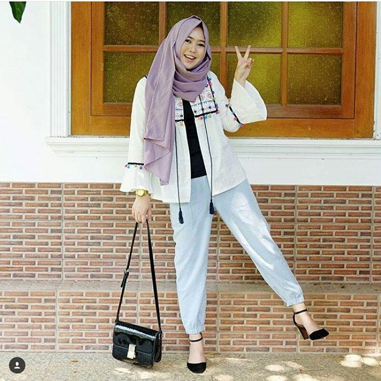 Fashion Remaja Hijab | Gaya jalanan, Baju muslim, Model ...