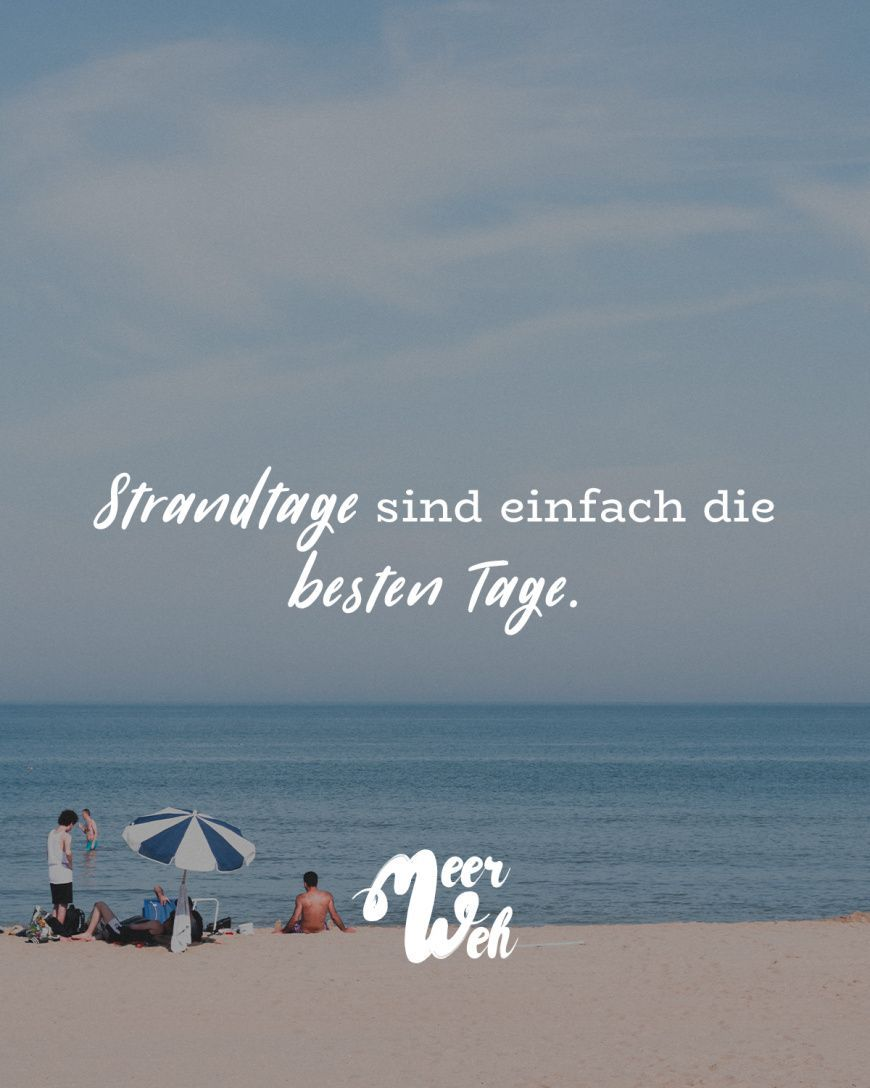 Meerweh Strandtag Strand Visual Statements