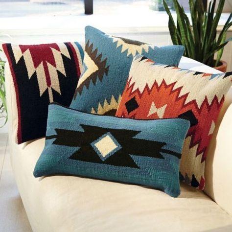 Aztec Throw Pillows Black And Blue Square Kilim Pinterest Awesome Aztec Decorative Pillows