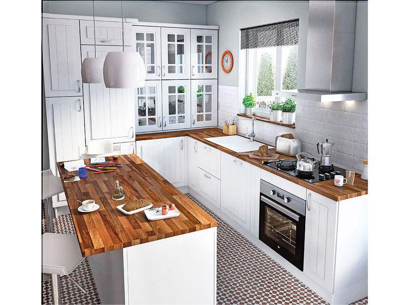 Cocinas con office actuales y con estilo deco home cocinas cocinas clasicas y cocinas leroy - Cocinas blancas clasicas ...