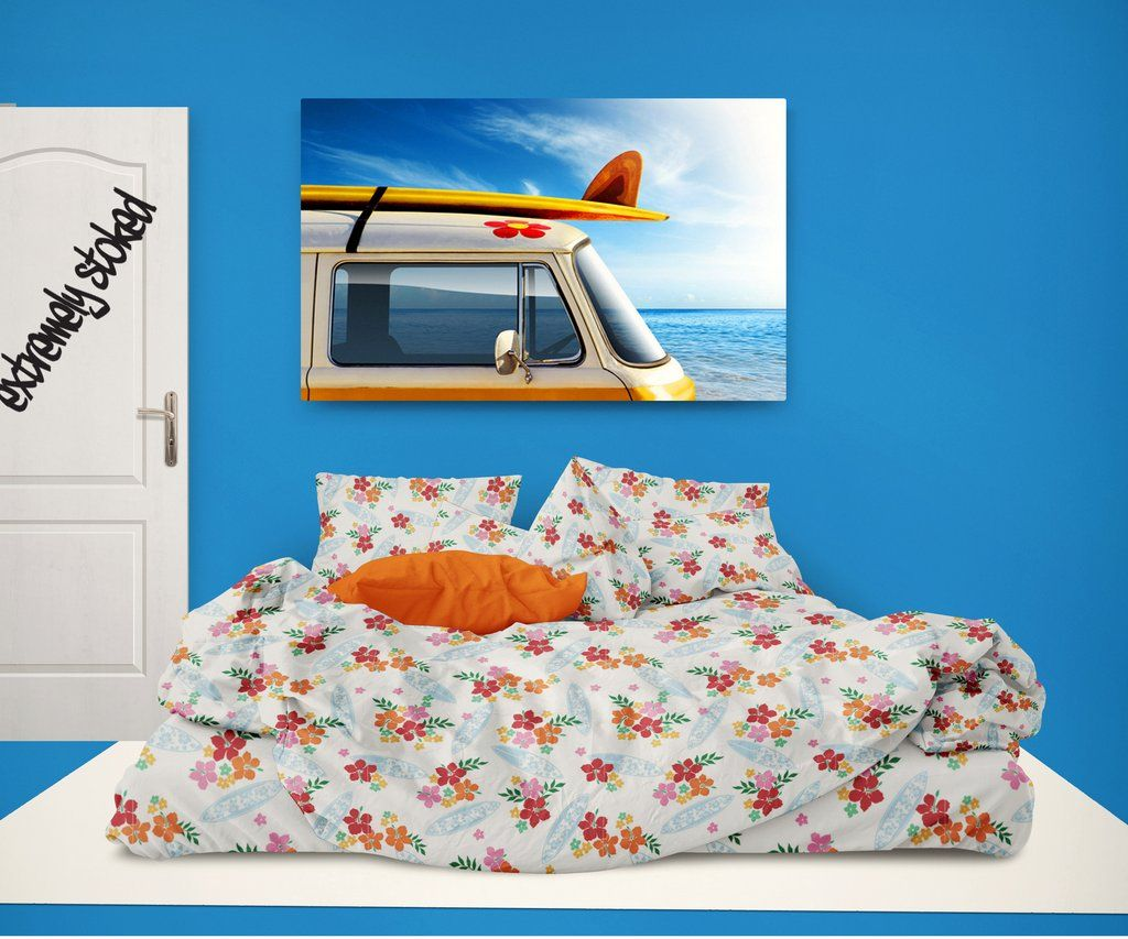 dcc6e0f03 Surfer Bedding Eco Friendly Hawaiian Surfer Girl Comforter Set from  Extremely Stoked
