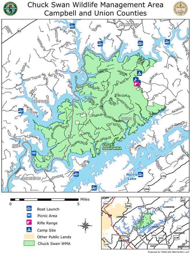 Chuck Swan WMA MAP on Norris Lake State Parks Pinterest Swans