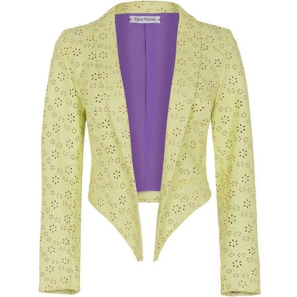 Vjera Vilicnik - Amy Blazer PU (70 PAB) ❤ liked on Polyvore featuring outerwear, jackets, blazers, tailored jacket, tailored blazer, beige jacket, pu jacket and polyurethane jacket