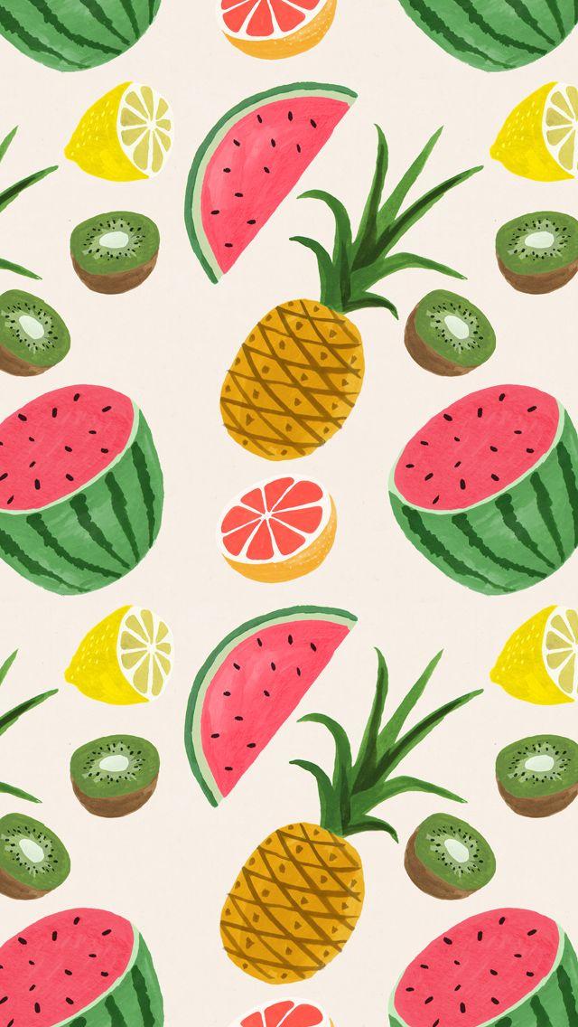 summer fruit print trend | Wallpaper | Pattern wallpaper, Iphone wallpaper, Fruit pattern