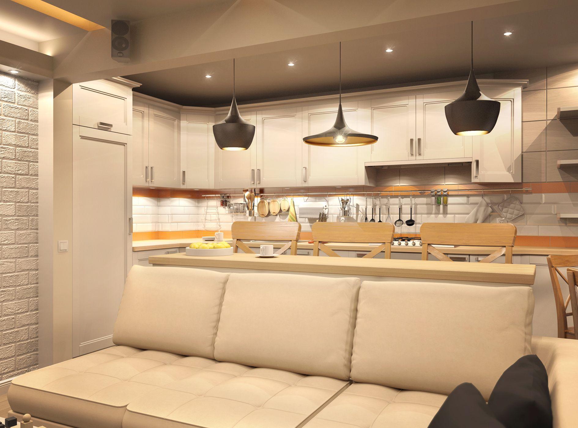 Картинки по запросу барная стойка за диваном | Кухня ...