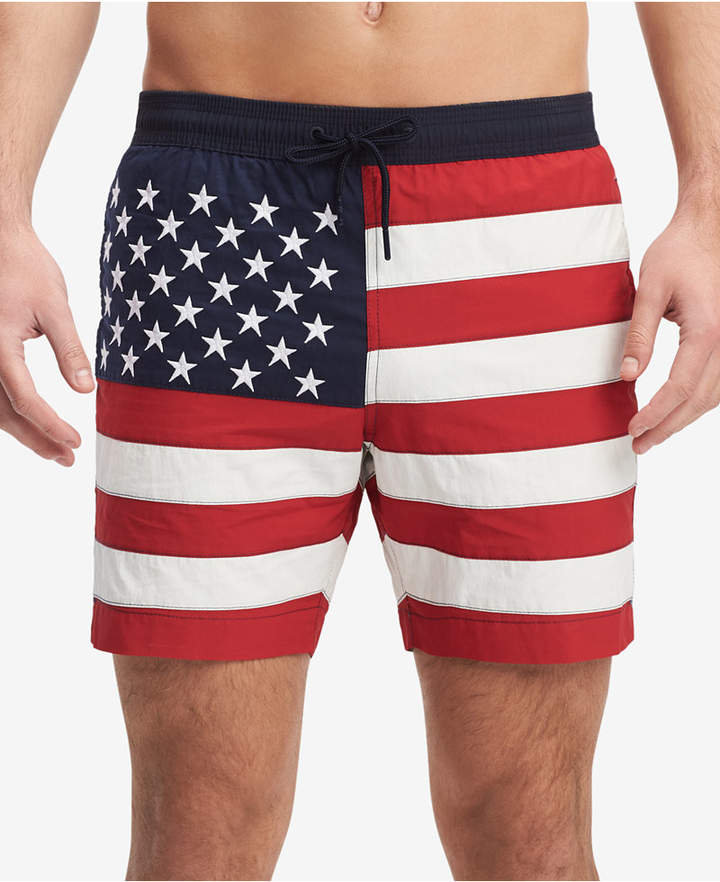 0caed09c46473 Tommy Hilfiger Men's Flag 6.5 Swim Trunks, Created for Macy's ...