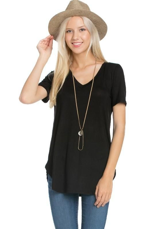 solid basic v neck tees black olive or white fashion basics short sleeves and sandals