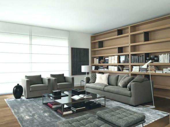20 Moderne Ideen Fur Graue Wohnzimmer Deko Braun Wandfarbe
