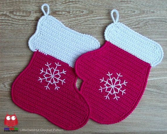 110 Crochet Pattern Stocking And Mitten Decor Potholder Or