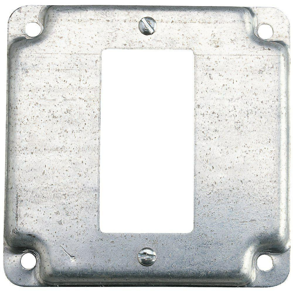 Steel City 4 In Square Box Cover For Single Gfci Receptacle Case