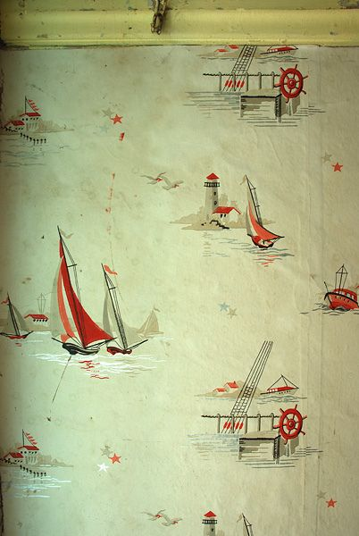 30s wallpaper from a dilapidated home.