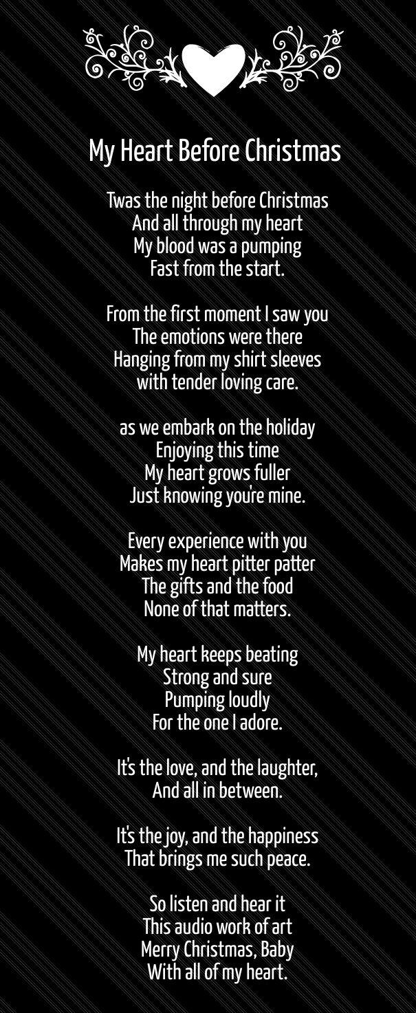 long christmas love poems