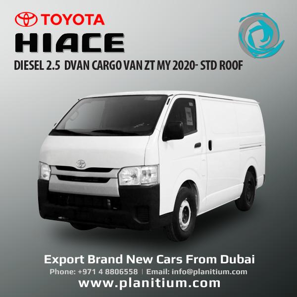 Toyota Hiace Diesel Cargo Van 2020 With Std Roof From Dubai Toyota Hiace Toyota Cargo Van