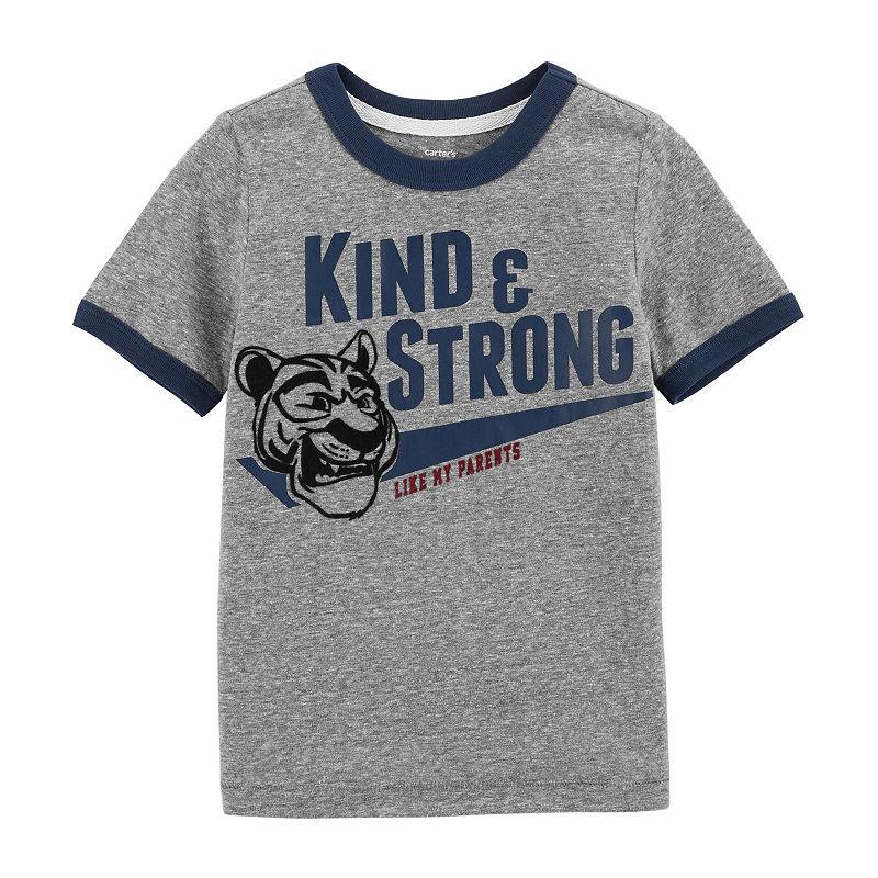 dc963af2 Carter's Boys Round Neck Short Sleeve Graphic T-Shirt-Toddler ...