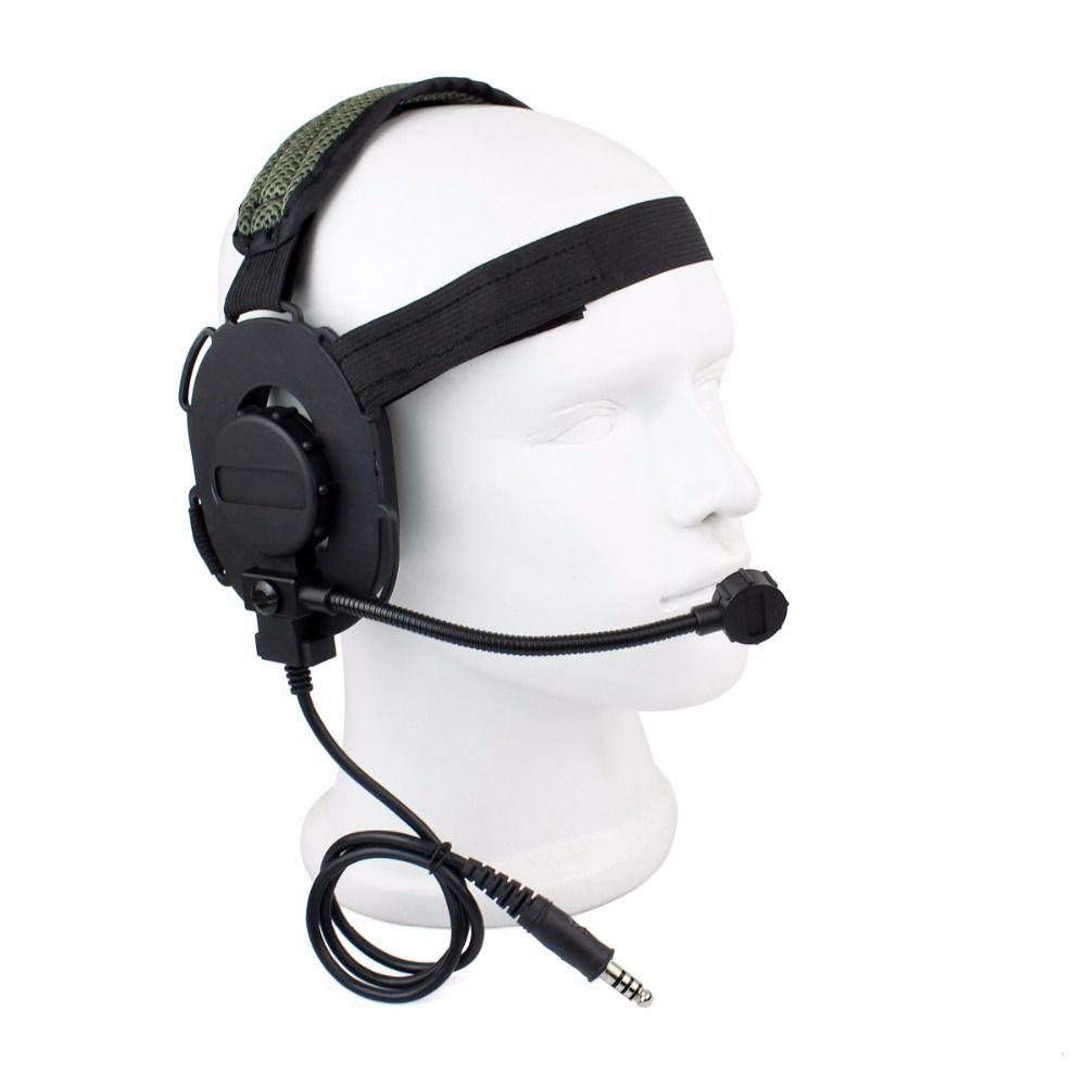 Z Tactique Bowman Elite Ii Casque Airsoft Mic Radio Boom 3 Vert Z