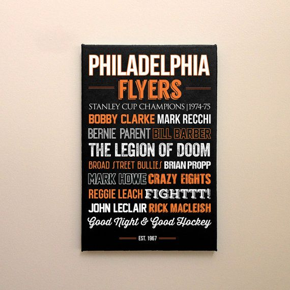 Philadelphia Flyers Art  Canvas Or Poster  Nhl Flyers