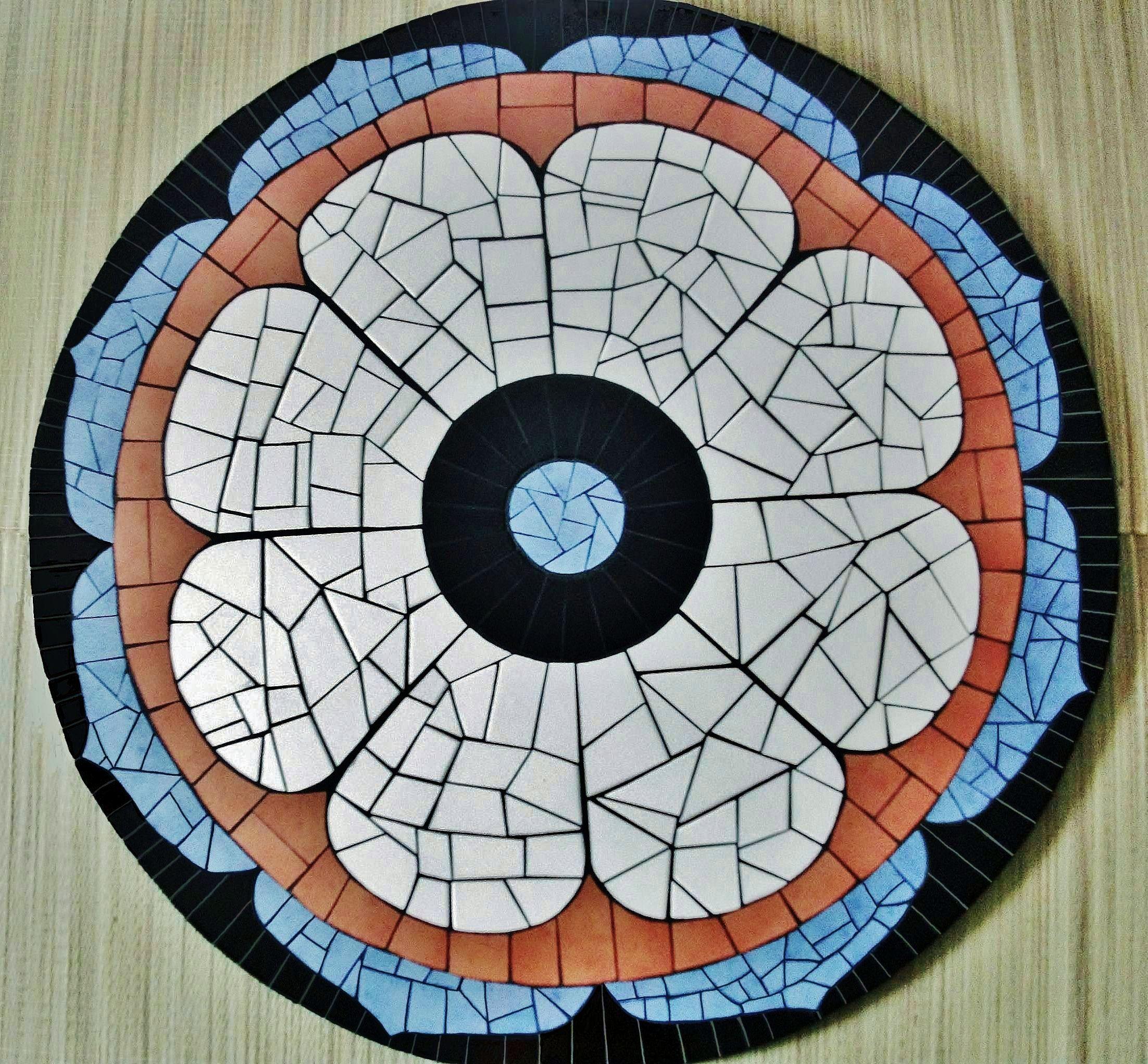 Tampo de mesa em mdf com mosaico em ceramica medindo for Mosaico ceramica