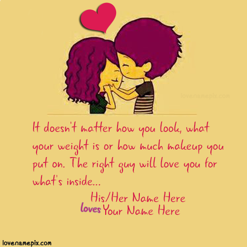 Cute Love Quotes: Write Couple Name On Sweet Cutest Love Quotes For Her